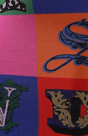 Платье из вискозы Versace разноцветное | Фото №5