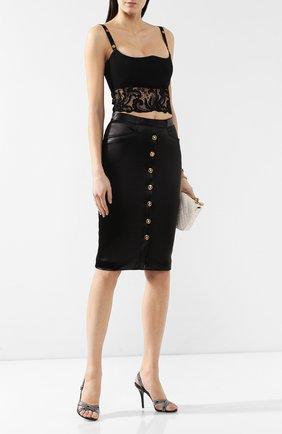 Кроп-топ Versace черный   Фото №2