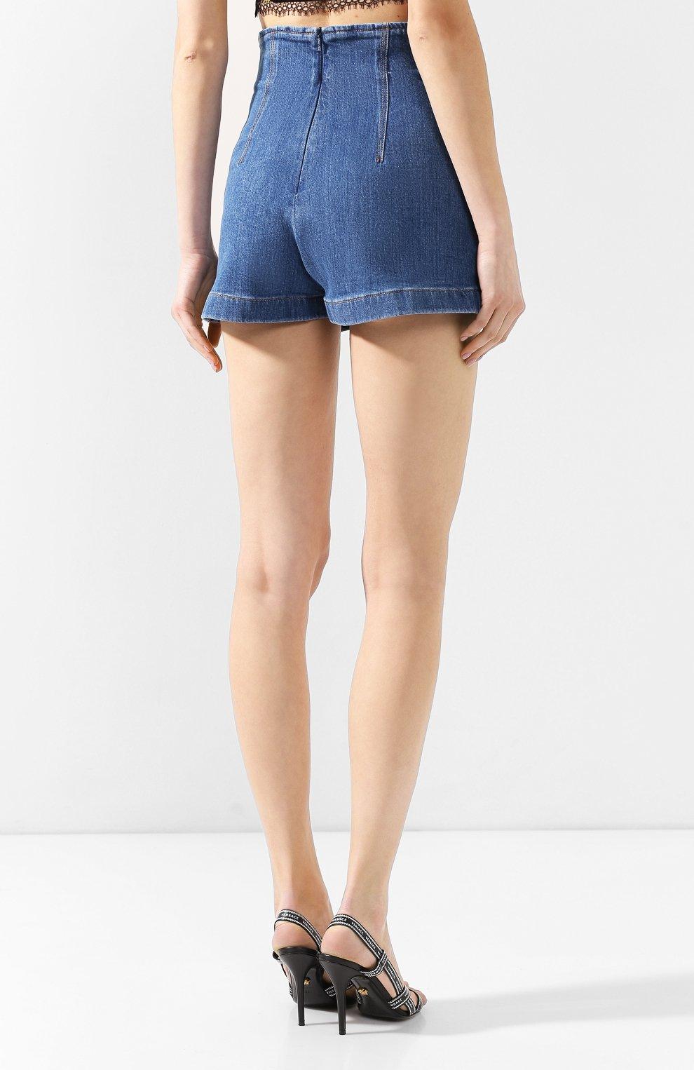 Джинсовые шорты Versace голубые   Фото №4
