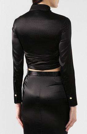 Шелковая блузка Versace черная   Фото №4