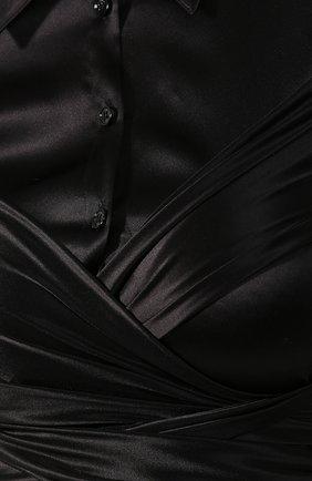 Шелковая блузка Versace черная   Фото №5