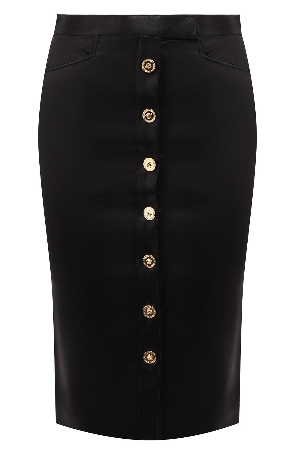 Юбка-карандаш Versace черная | Фото №1