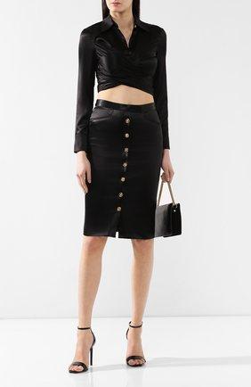 Юбка-карандаш Versace черная | Фото №2