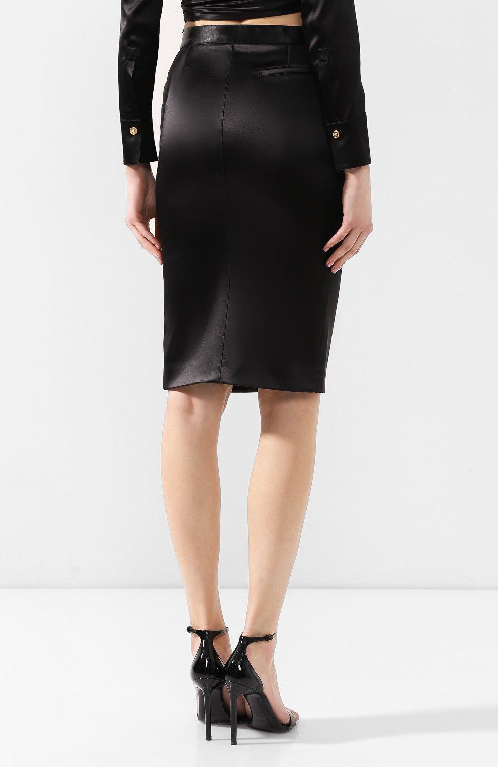 Юбка-карандаш Versace черная | Фото №4