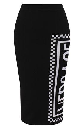Юбка из вискозы Versace черная | Фото №1