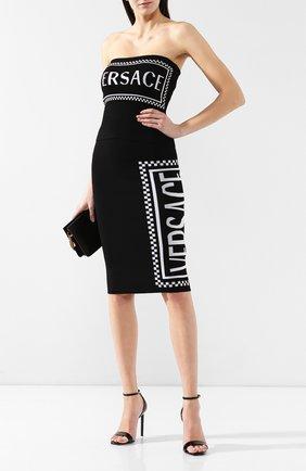 Юбка из вискозы Versace черная | Фото №2