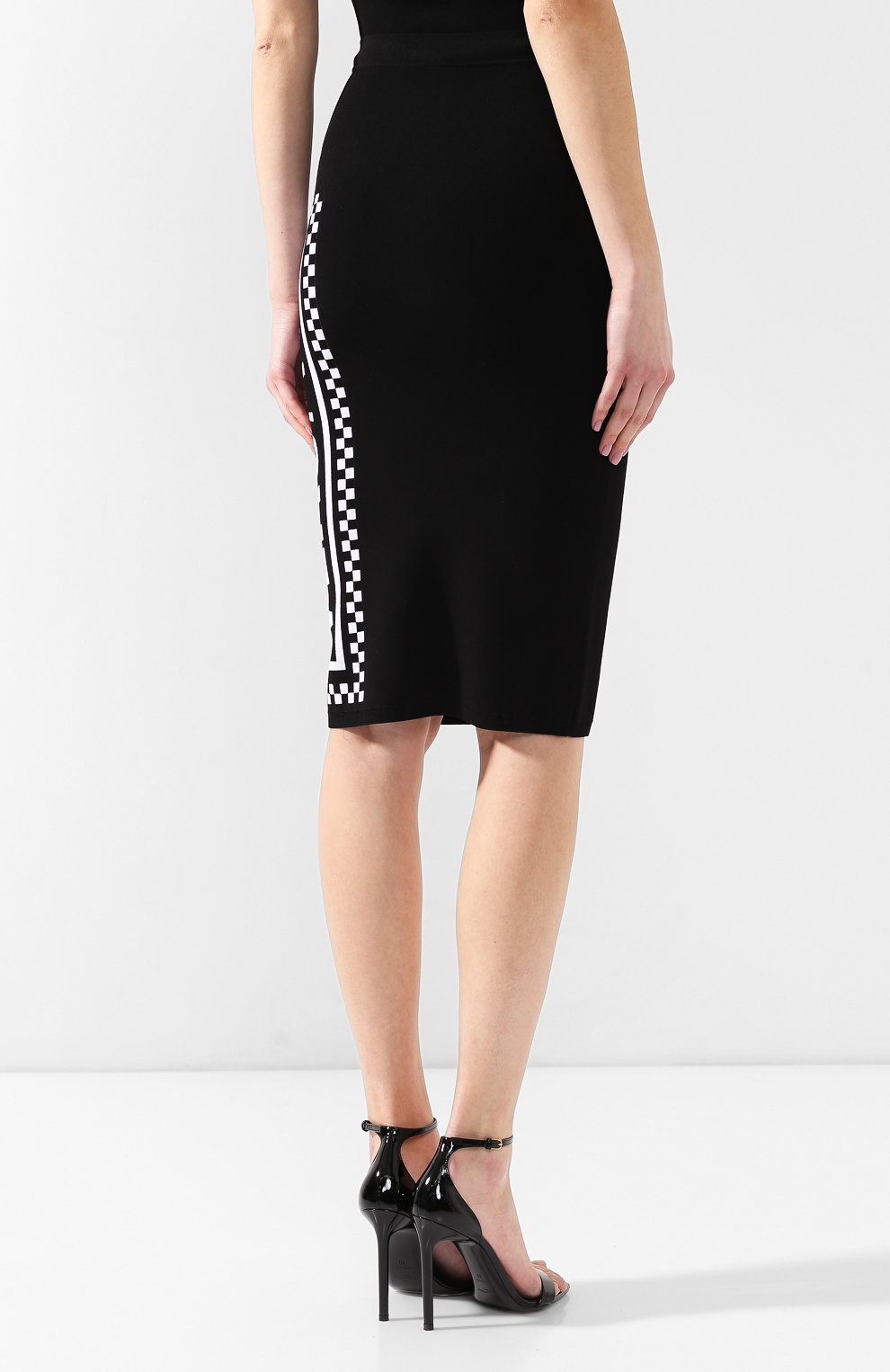 Юбка из вискозы Versace черная | Фото №4