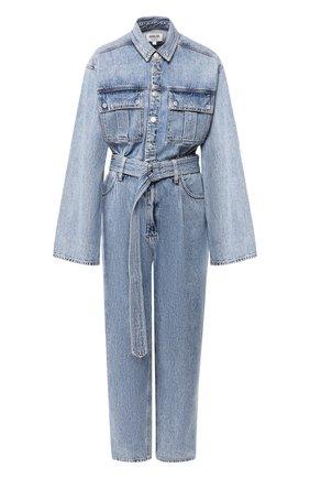 Женский джинсовый комбинезон AGOLDE голубого цвета, арт. A8002-983 | Фото 1