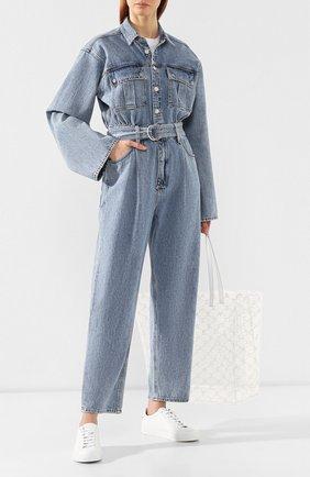 Женский джинсовый комбинезон AGOLDE голубого цвета, арт. A8002-983 | Фото 2