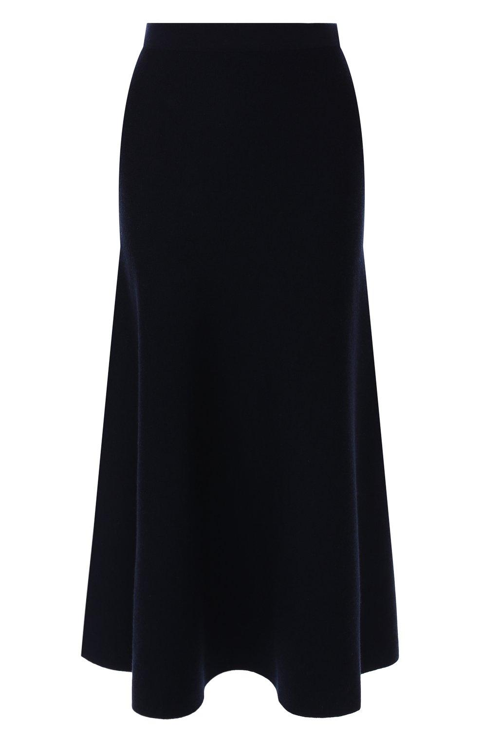 Шерстяная юбка Gabriela Hearst темно-синяя | Фото №1