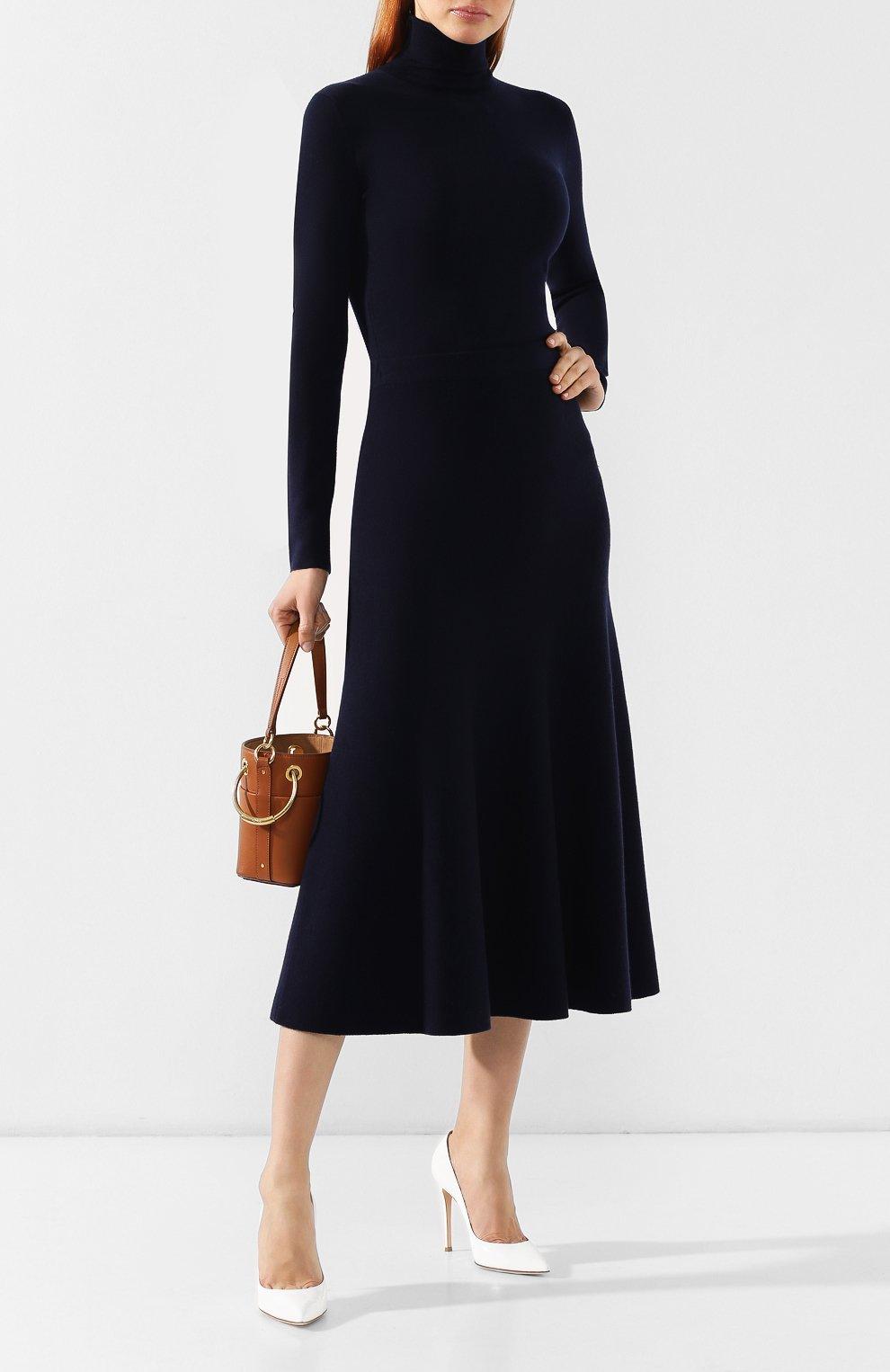 Шерстяная юбка Gabriela Hearst темно-синяя | Фото №2