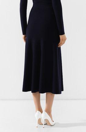 Шерстяная юбка Gabriela Hearst темно-синяя | Фото №4