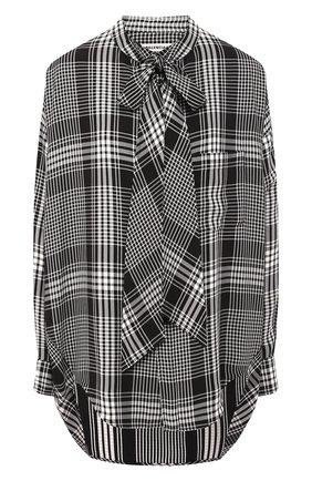 Рубашка в клетку Balenciaga черно-белая | Фото №1