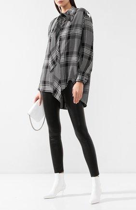 Рубашка в клетку Balenciaga черно-белая | Фото №2