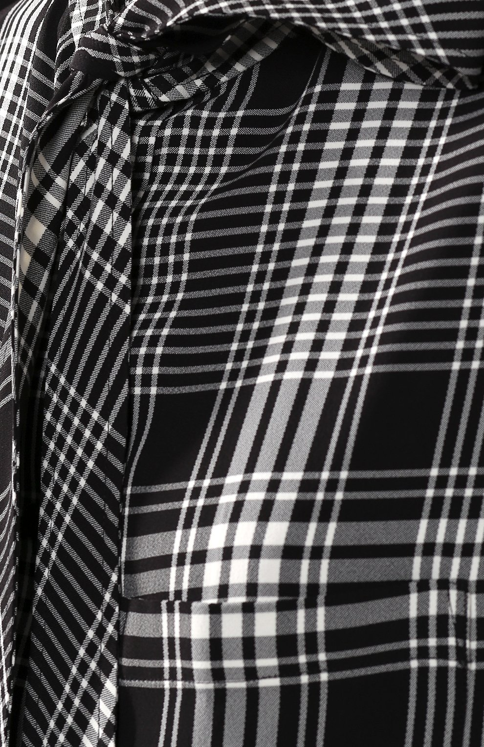 Рубашка в клетку Balenciaga черно-белая | Фото №5
