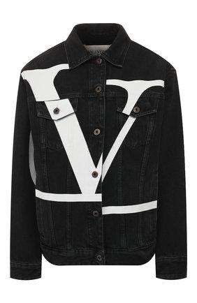 Джинсовая куртка Valentino черная | Фото №1