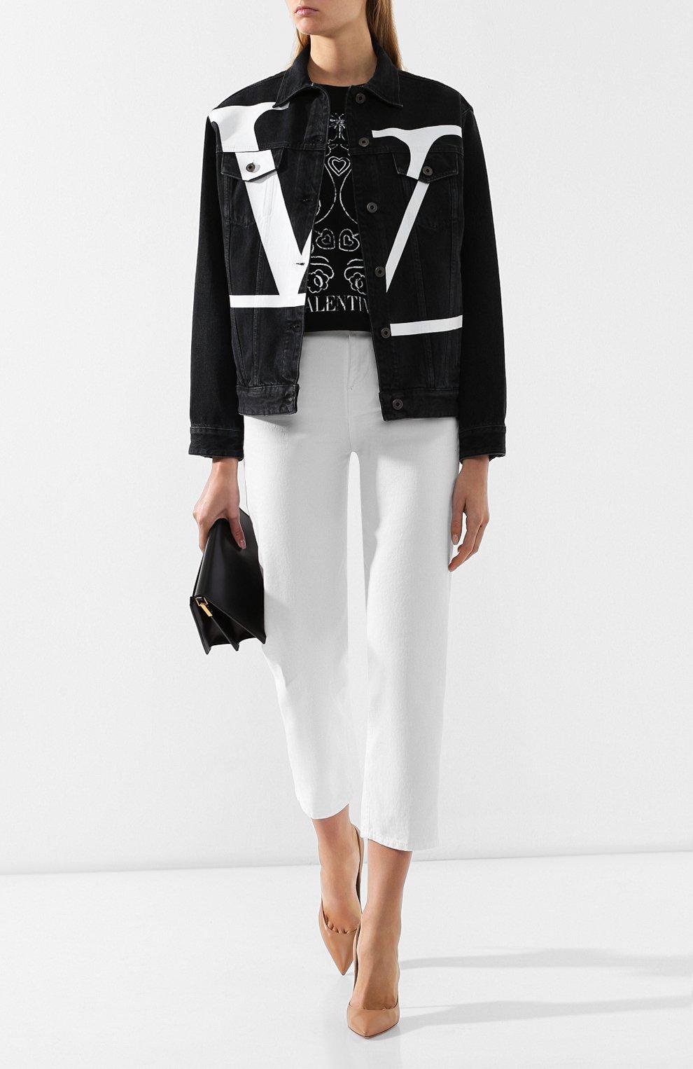 Джинсовая куртка Valentino черная | Фото №2