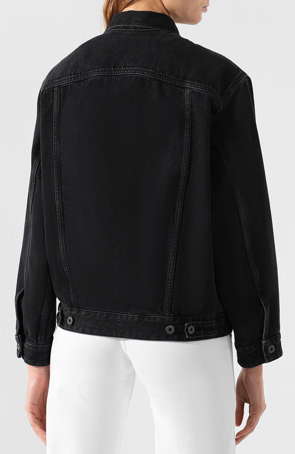 Джинсовая куртка Valentino черная | Фото №4