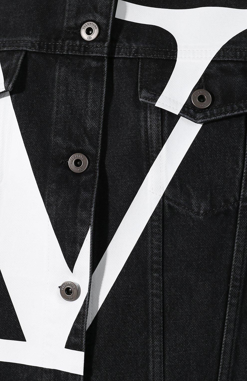 Джинсовая куртка Valentino черная | Фото №5