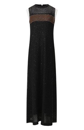 Платье из смеси льна и шелка | Фото №1