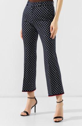 Хлопковые брюки Gucci синие | Фото №3