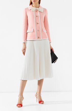 Жакет из смеси шерсти и шелка Gucci розовый | Фото №2
