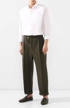 Мужские кожаные слиперы fiandra BOTTEGA VENETA темно-зеленого цвета, арт. 548279/V0013 | Фото 2