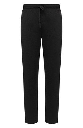Мужские домашние брюки из вискозы HANRO темно-серого цвета, арт. 075040 | Фото 1