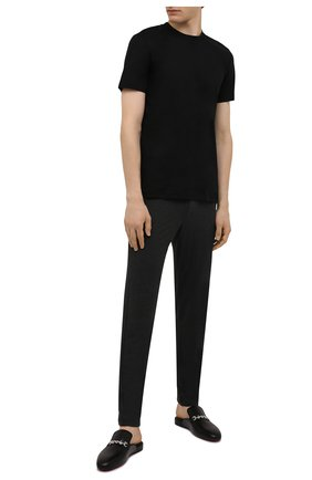 Мужские домашние брюки из вискозы HANRO темно-серого цвета, арт. 075040 | Фото 2 (Статус проверки: Проверено, Проверена категория; Длина (брюки, джинсы): Стандартные; Кросс-КТ: домашняя одежда; Мужское Кросс-КТ: Брюки-белье; Материал внешний: Вискоза)