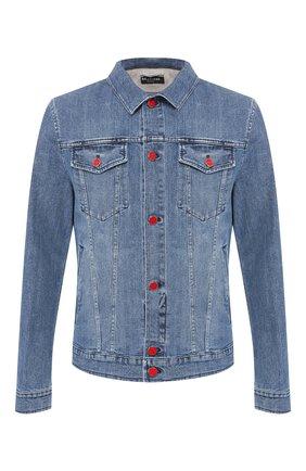 Мужская джинсовая куртка KITON голубого цвета, арт. UW0506J07R52 | Фото 1