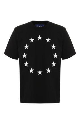 Хлопковая футболка  Études черная | Фото №1