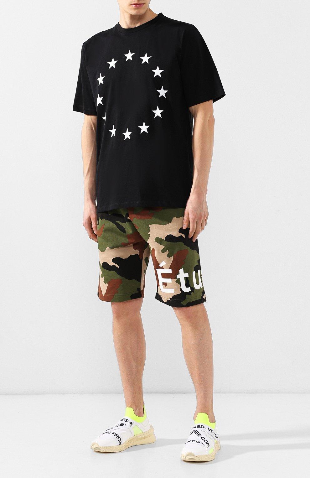 Хлопковая футболка  Études черная | Фото №2