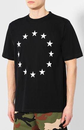 Хлопковая футболка  Études черная | Фото №3