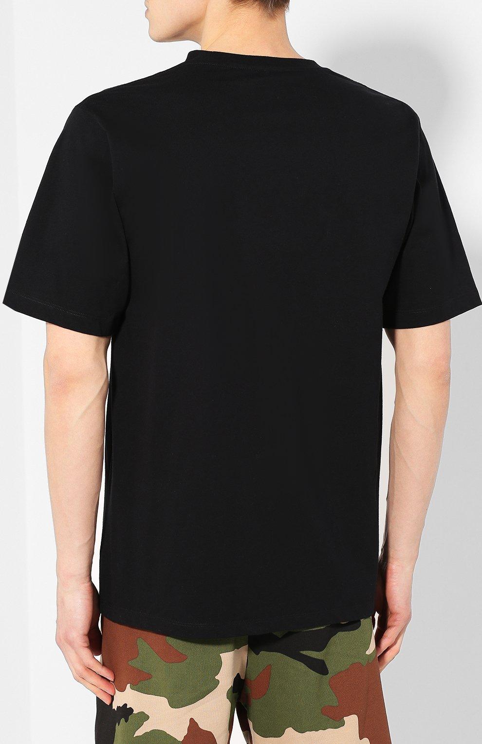 Хлопковая футболка  Études черная | Фото №4