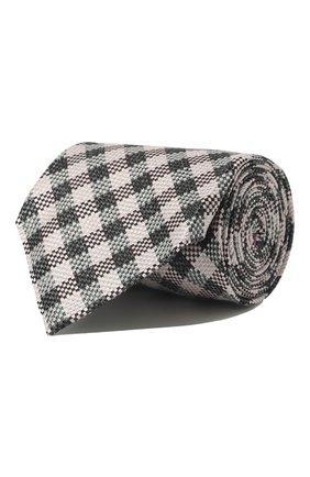 Мужской галстук из смеси шелка и льна TOM FORD розового цвета, арт. 5TF50/XTF | Фото 1