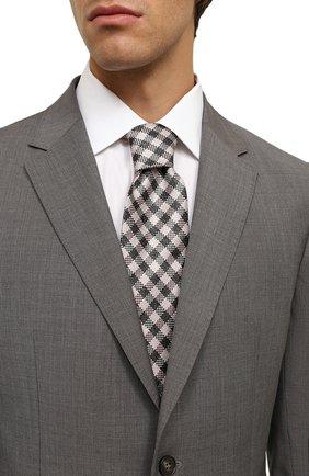 Мужской галстук из смеси шелка и льна TOM FORD розового цвета, арт. 5TF50/XTF | Фото 2