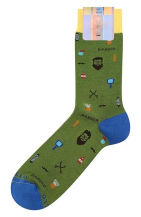 Хлопковые носки Gallo зеленые | Фото №1