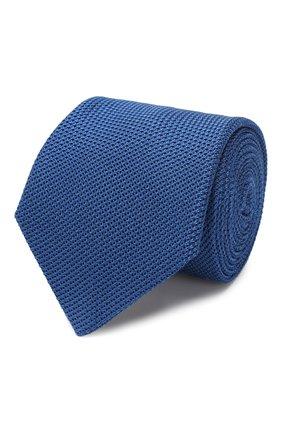 Мужской шелковый галстук LANVIN синего цвета, арт. 1207/TIE   Фото 1