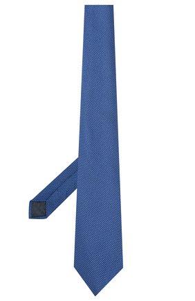 Мужской шелковый галстук LANVIN синего цвета, арт. 1207/TIE   Фото 2