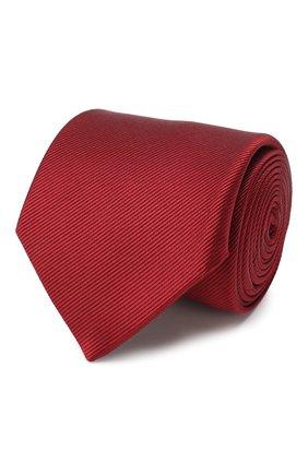 Мужской шелковый галстук LANVIN бордового цвета, арт. 1302/TIE | Фото 1