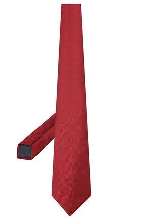 Мужской шелковый галстук LANVIN бордового цвета, арт. 1302/TIE | Фото 2