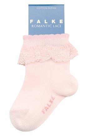 Детские хлопковые носки FALKE светло-розового цвета, арт. 12121 | Фото 1