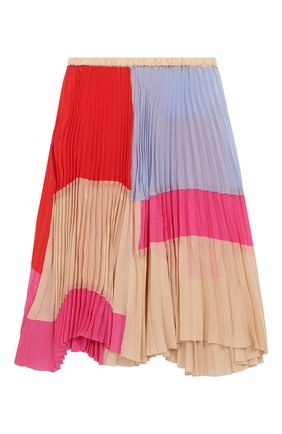 Плиссированная юбка из вискозы и шелка | Фото №1