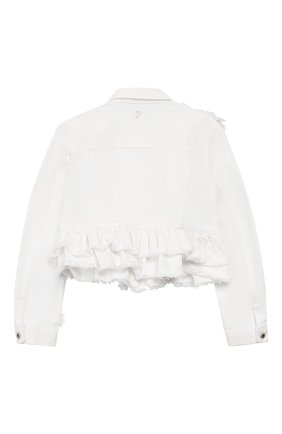 Детского джинсовая куртка с баской DONDUP белого цвета, арт. YJ088A/BS0009B/PTD | Фото 2