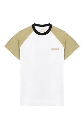 Детская хлопковая футболка FENDI разноцветного цвета, арт. JMI246/7AJ/3A-5A | Фото 1
