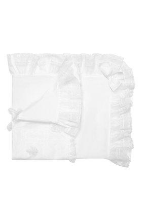 Детского хлопковое одеяло ALETTA белого цвета, арт. RA99211 | Фото 1
