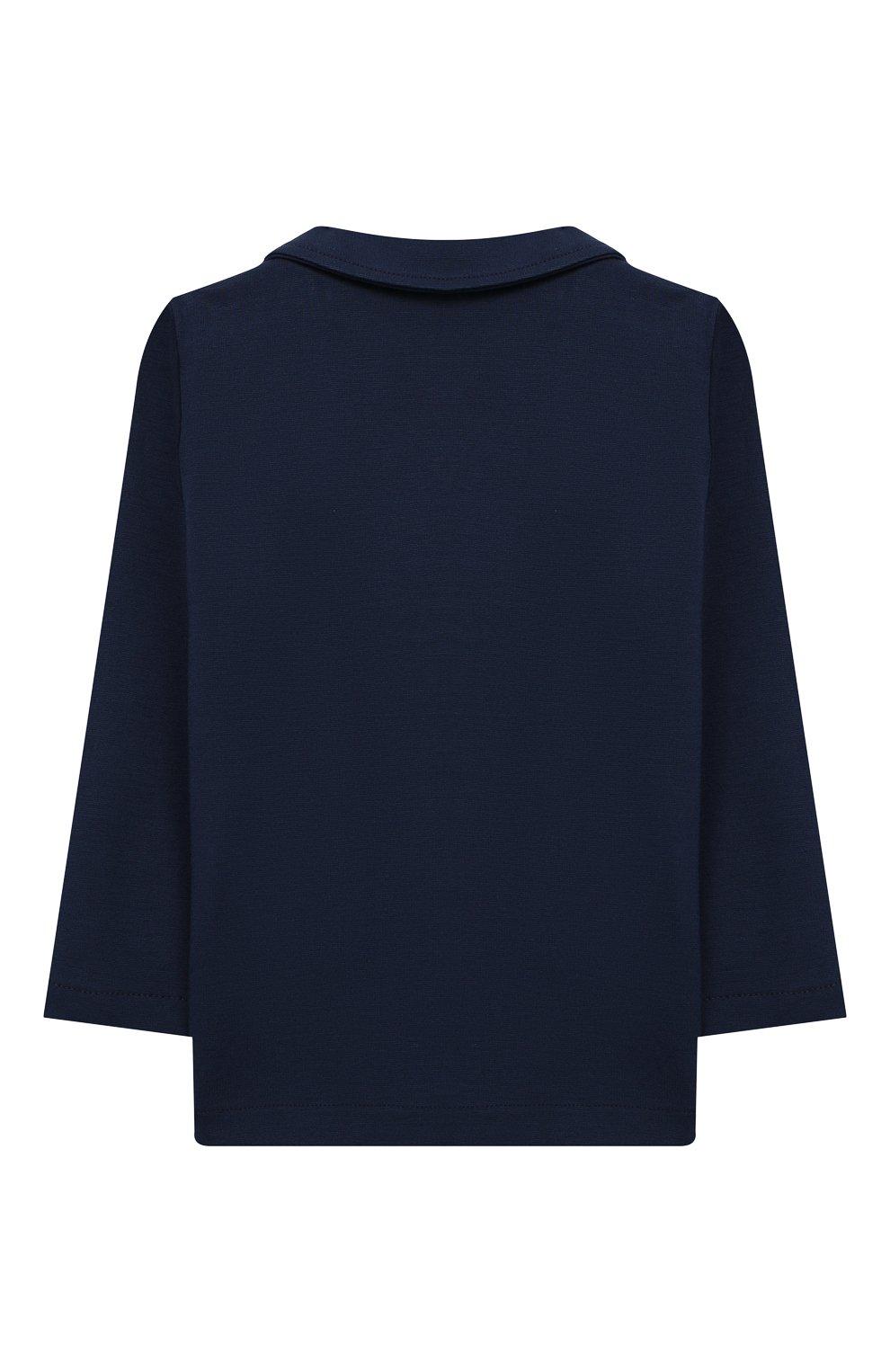 Детский пиджак из вискозы ALETTA синего цвета, арт. RVE99378/1M-18M | Фото 2