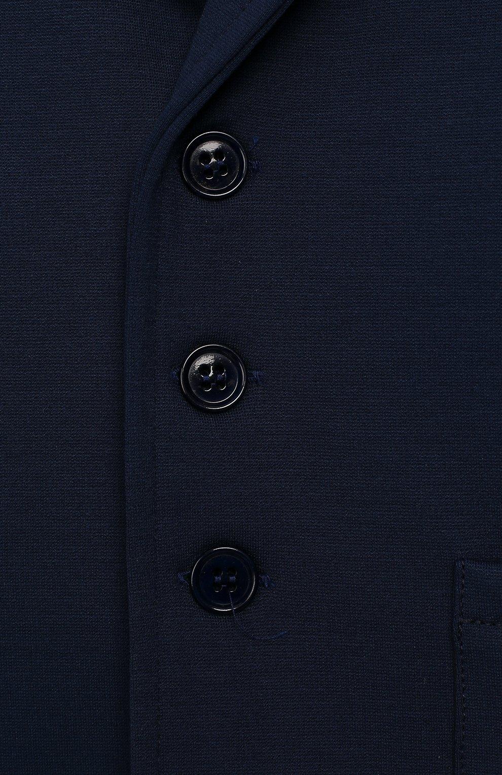 Детский пиджак из вискозы ALETTA синего цвета, арт. RVE99378/1M-18M | Фото 3