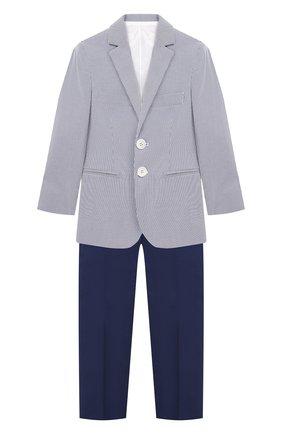 Костюм из хлопкового пиджака и брюк | Фото №1