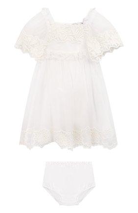 Комплект из хлопкового платья с шортами | Фото №1